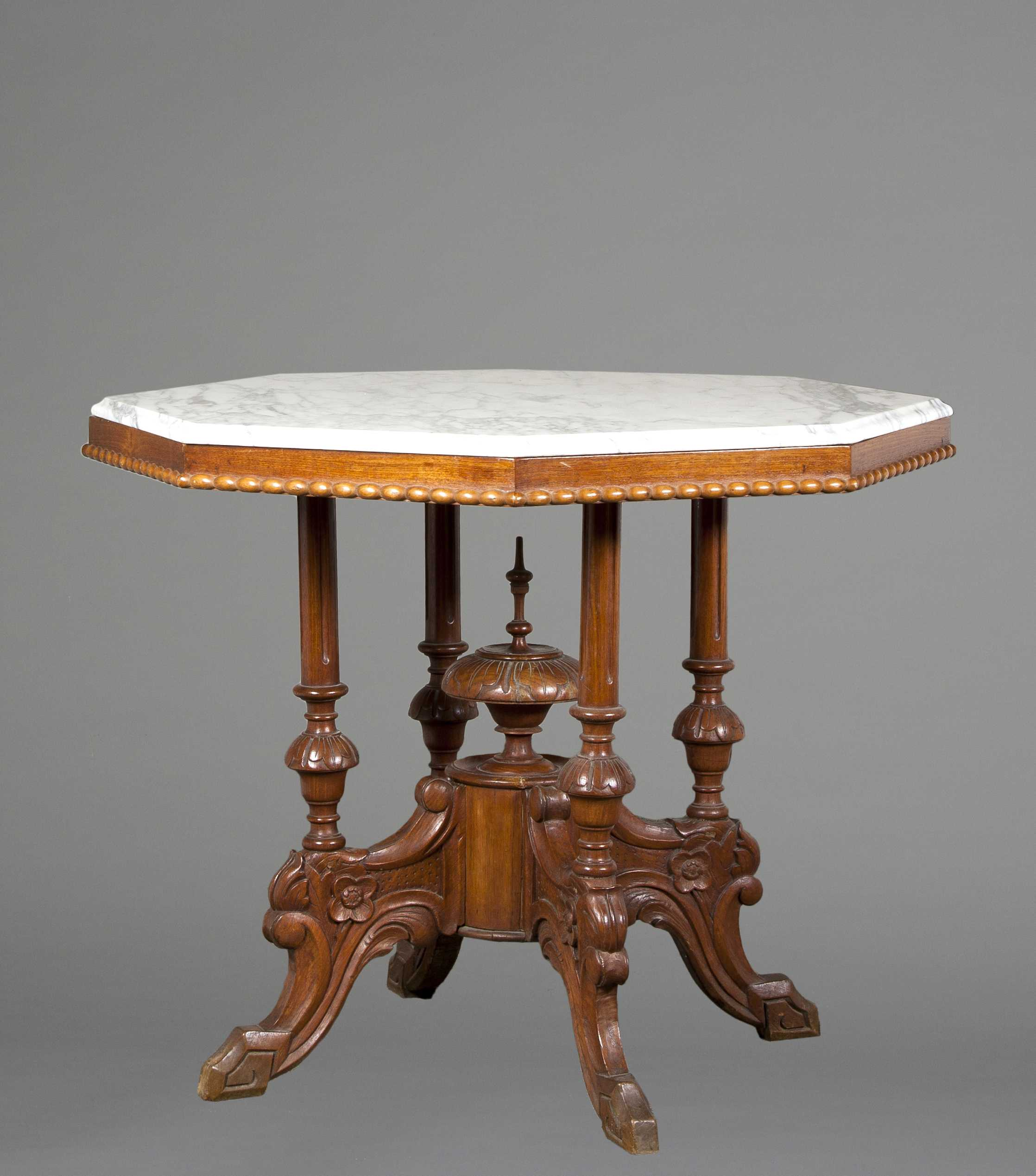 Victorian Octagonal Top Tea Table