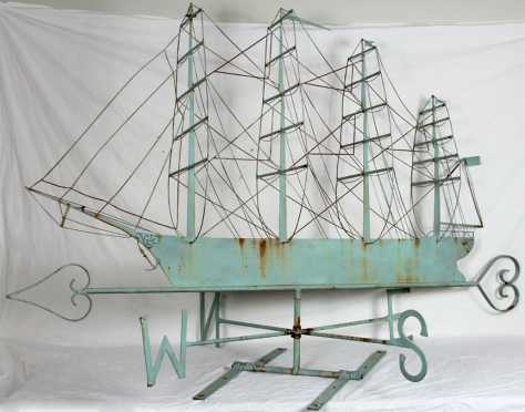 Sheet Metal Ship Weathervane