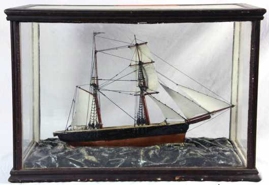 Cased Sailing Ship Model