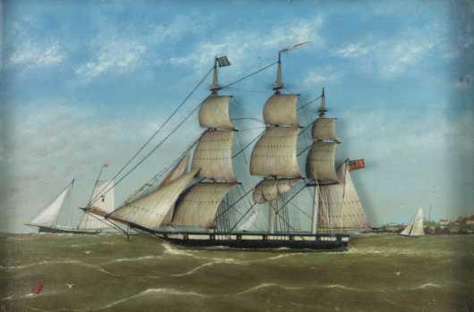 American Sailing Ship Diorama
