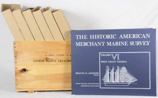 "7 Volumes -""Historic American Merchant Marine Survey"""