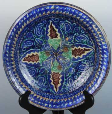 Antique Persian Pottery Plate