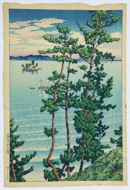 "Kawase Hasui, ""Sea of Japan,""  first edition"