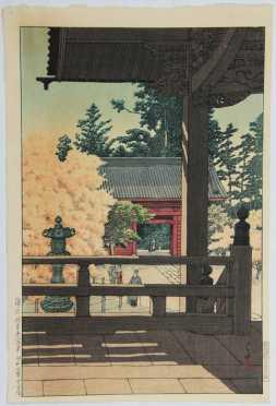 "Kawase Hasui, ""Myohon Temple, Kamakura,"""