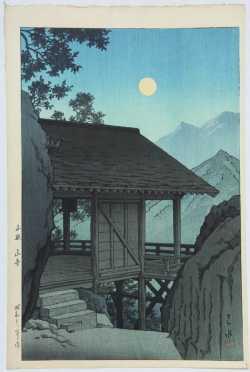 "Kawase Hasui, ""The Yama Temple,"" Kamakura,"""