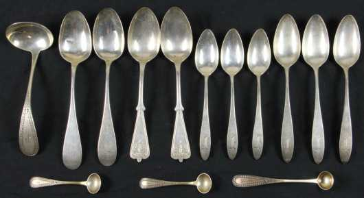Coin & Sterling Silver Spoon Lot