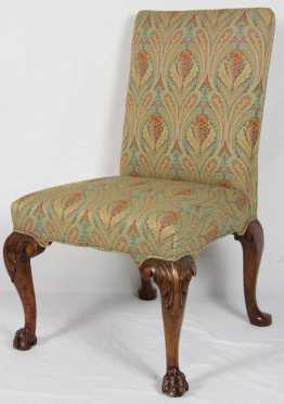 English Queen Anne Backed Stool