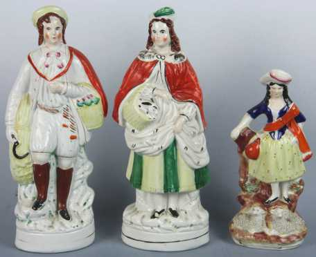 Three Staffordshire Figurines