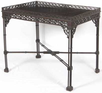 Edwardian Cluster Leg Silver Table