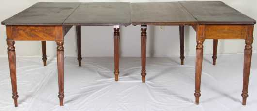 Mahogany Empire Banquet Table