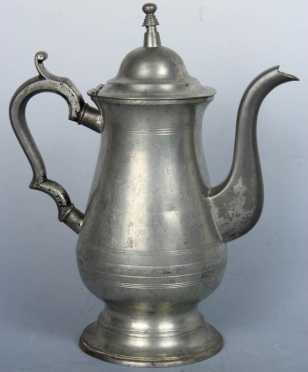 Pewter Coffee Pot- Roswell Gleason