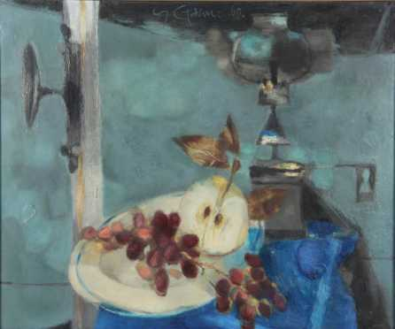 Yves Ganne, oil on canvas impressionistic still life
