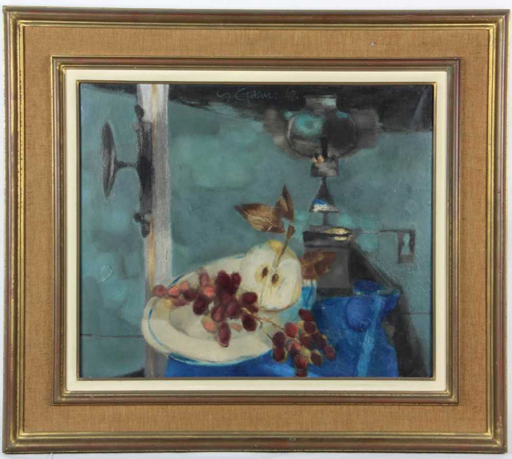Lot 184: Yves Ganne, oil on canvas impressionistic still life