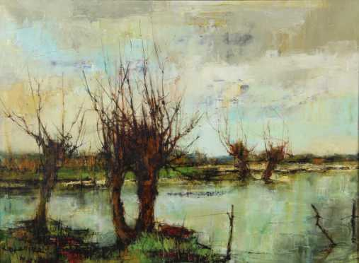 Impressionistic Landscape, oil on canvas