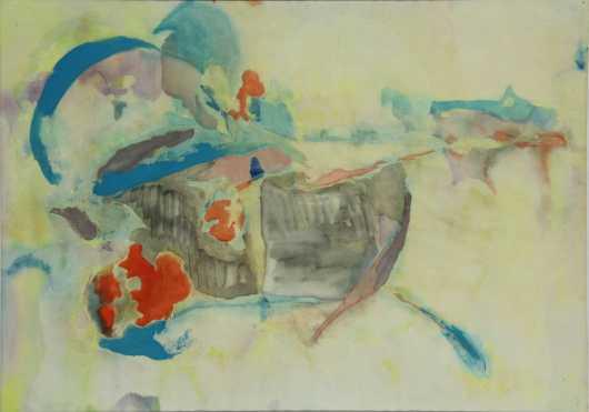 Edgar Ortiz, impressionistic gouache/watercolor on paper