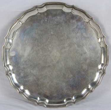 Chippendale Style Sterling Footed Tray