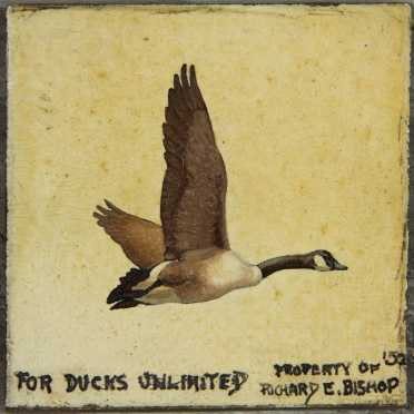 "Richard E. Bishop, oil on panel for ""Ducks Unlimited Stamp"""