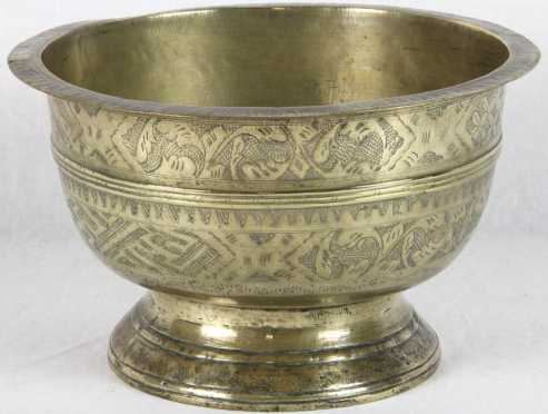Dutch Colonial Brass Bowl