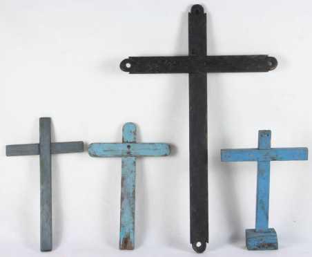 Wooden Crosses, 4 crosses of various sizes