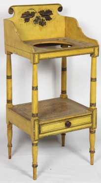 Sheraton Yellow Grain Painted Wash Stand