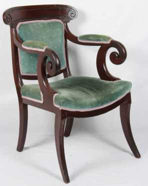 Mahogany Empire Arm Chair
