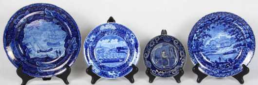 Blue Transferware, 4 pieces