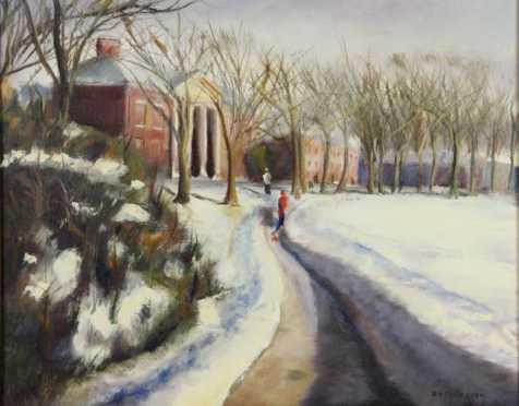 A.O. Callaghan, oil on canvas landscape