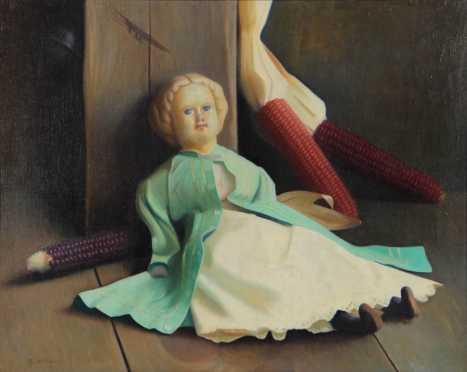 Sidney Willis, NH, still life of a doll