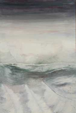 """Pierre Rottet, oil on panel of a """"Glacial #7,"""""""