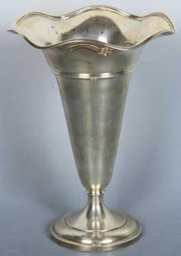 """Sterling Silver Vase """"Black, Star & Frost"""""""