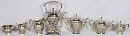 Arthur Stone Sterling Seven Piece Tea/Coffee Set
