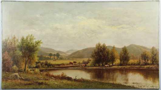 Charles Wilson Knapp,  oil on canvas landscape