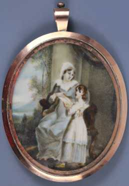 19th Century American Miniature Painting on Ivory