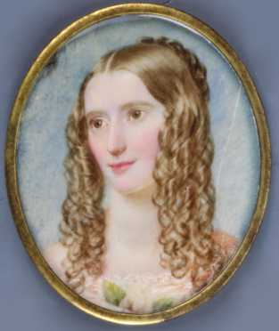 Early 19th Century Miniature Portrait On Ivory