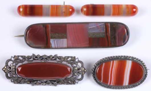 Scottish Jewelry, 5 pins