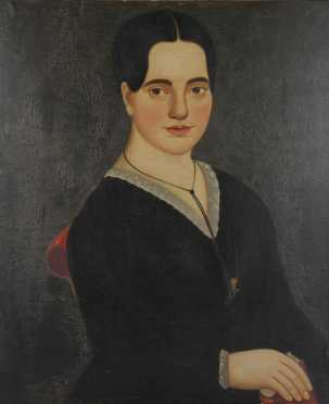 William Mathew Prior, attributed,  oil on canvas painting of Malvina Harriman