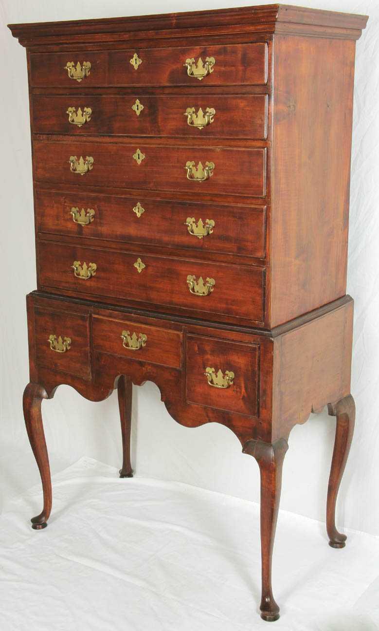 Maple Queen Ann Highboy 18th Century