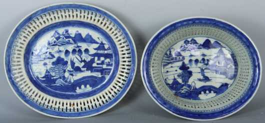 Canton Reticulated Basket and Tray