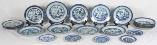 Lot of Canton Plates and Bowls