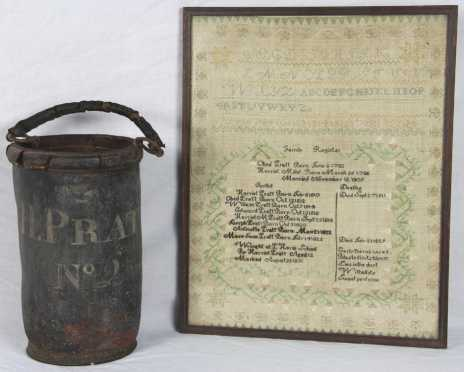 Pratt Family Register and Fire Bucket