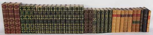 British Poets in fine and decorative leather bindings