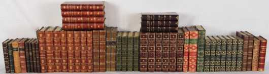 British Literature in fine and decorative leather bindings