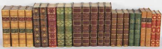 Miscellaneous essays, biography, letters in fine and decorative leather bindings