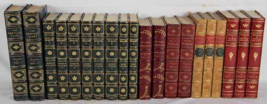 Miscellaneous nonfiction in fine and decorative leather bindings