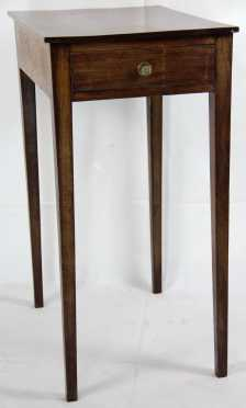 Mahogany Hepplewhite One Drawer Stand