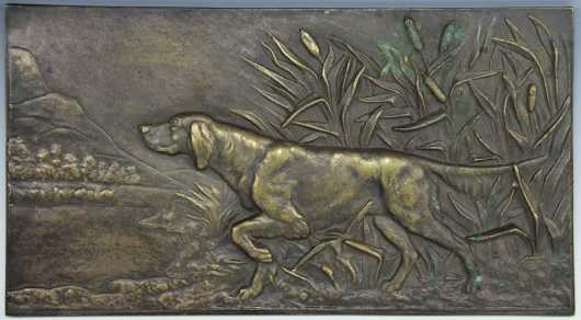 Cast Bronze Plaque of Pointer
