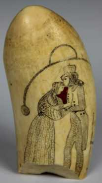 Scrimshaw Decorated Tooth