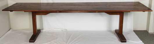 Shaker Style Trestle Table