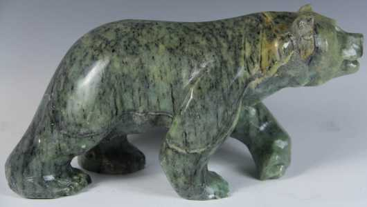 Inuit Carved Soapstone Bear