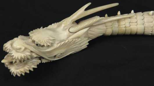 Japanese Ivory Articulated Dragon circa 1875